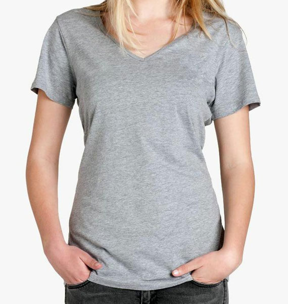 Ladies Bevel V-Neck Tee