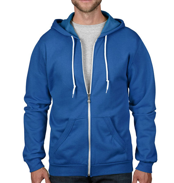 Anvil Mens Full Zip Hooded FLeece