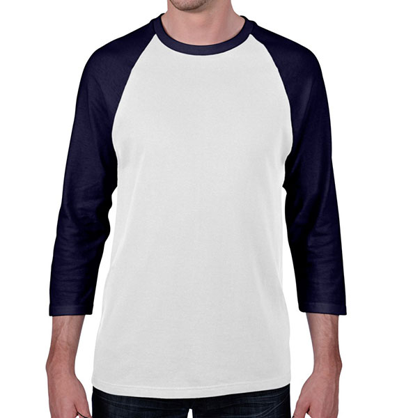 Anvil Mens Heavyweight Raglan 3/4 Sleeve Tee