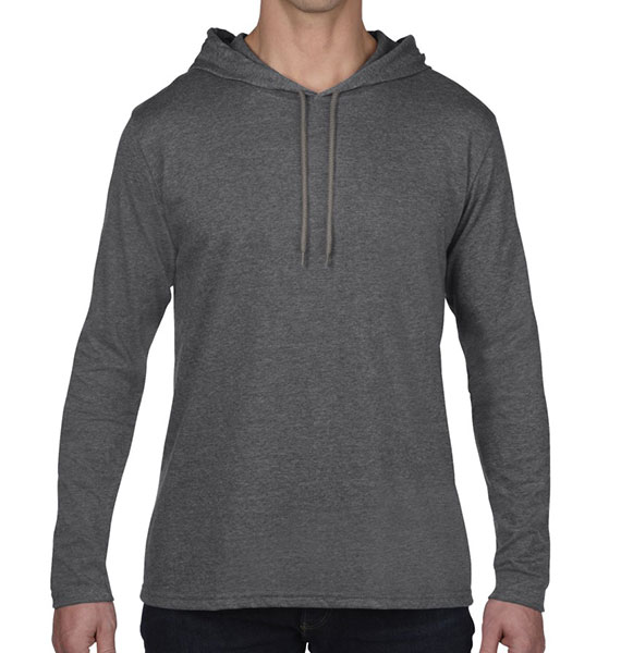 Anvil Mens Lightweight Long Sleeve Hood Tee