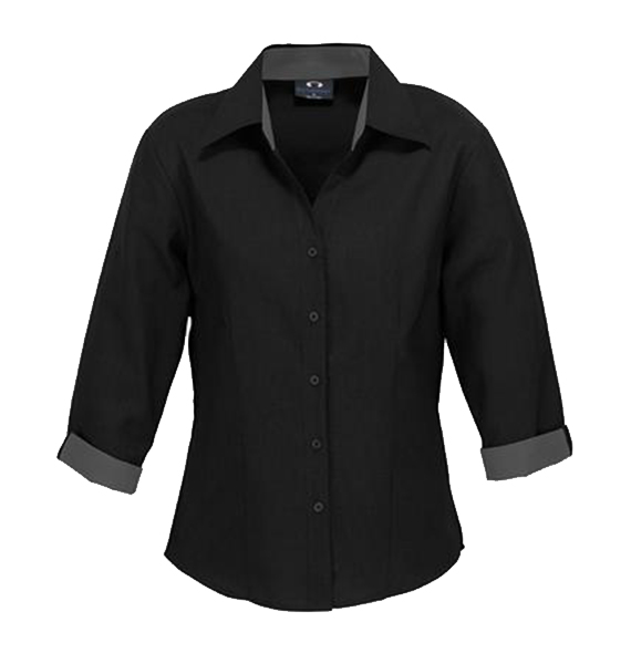 Ladies Contrast Oasis 3/4 Sleeve Shirt