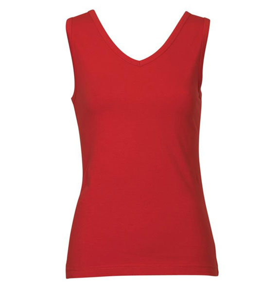 Ladies Fitted V Neck Tank Top