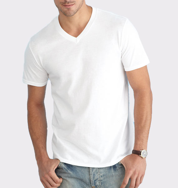 Mens Soft Style V Neck T-Shirt