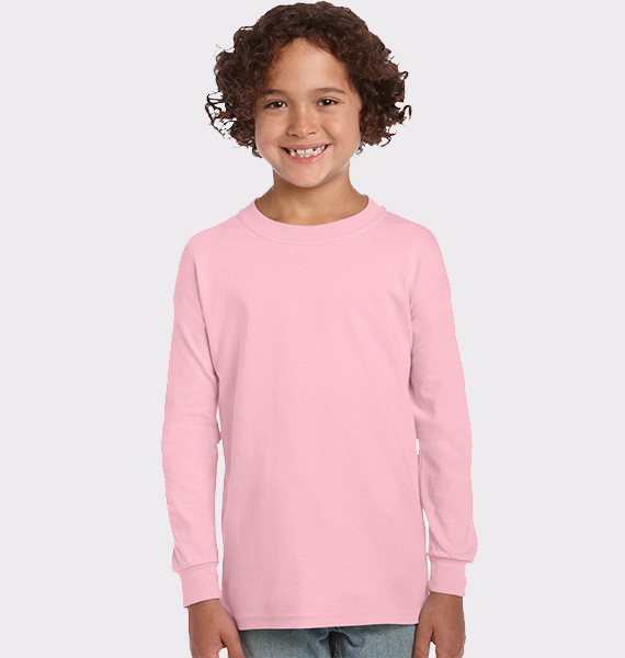 Kids Youth Ultra Cotton Long Sleeve T-Shirt