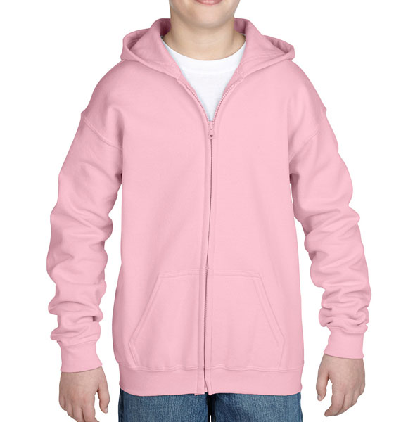 Youth Zip Hooded Sweatshirt