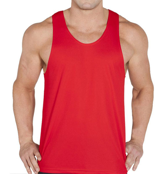 Mens Podium Poly Singlet