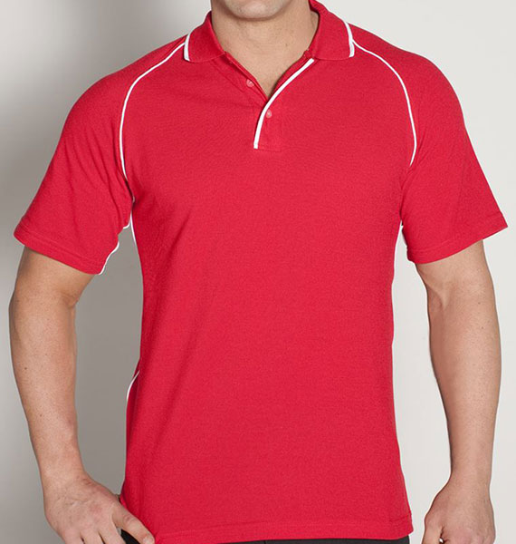 Mens Raglan Polo