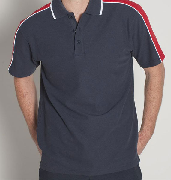 Mens Sleeve Panel Polo