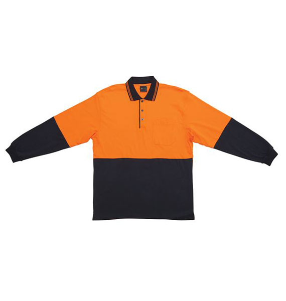 Hi Vis L/s Cotton Polo