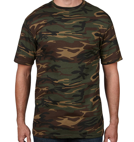 Anvil Mens Midweight Camoflage Tee