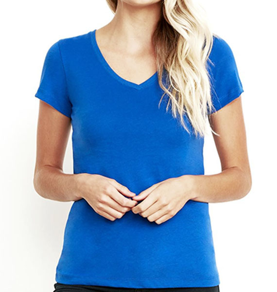 Next Level Womens Sueded V-neck