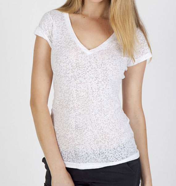 Ramo Ladies Burnout V Neck Tee