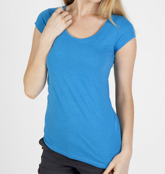 Ramo Ladies Marl Scoop Neck Tee