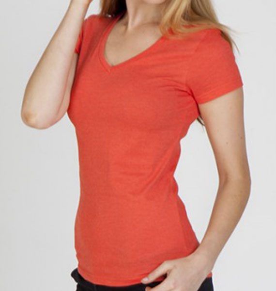 Ramo Ladies Marl V Neck Tee