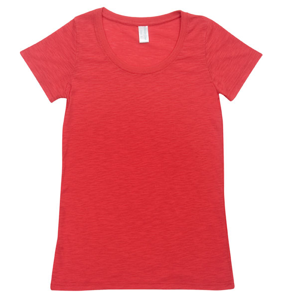 Ladies Raw Cotton Wave T-shirts